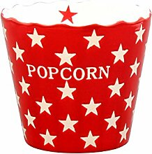 Krasilnikoff - Popcorn Schale, Schüssel - Rot mit