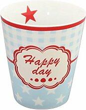 Krasilnikoff - Tasse - Becher - Mug - Happy Day - Höhe 10 cm