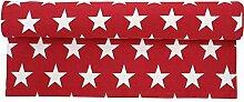 Krasilnikoff - Tischläufer, Läufer - Sterne - Farbe: Red / Rot - 160 x 50 cm - 100 % Baumwolle