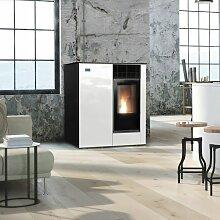 KRATKI Pelletofen Viking 8 kW Ofen Pellet Weiß
