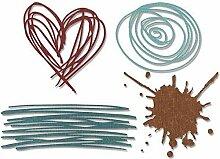Kratzer - Schneiden von Metall Thinlits Schablonen
