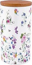 Krauff 21-244-050 Vorratsdose, Porzellan, weiß, 11,1 x 11,1 x 21,5 cm