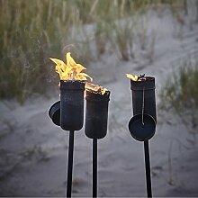 Krause & Sohn 2X Ölfackel schwarz Fackel aus