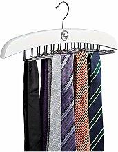 Krawattenhalter - Krawattenbügel in modernem weiß, aus Holz, für 24 Krawatten - Tücher - Gürtel ➤ The Wardrobe Stuff