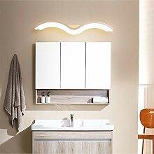 Kreativ Aluminium Bad Spiegellampe Welle