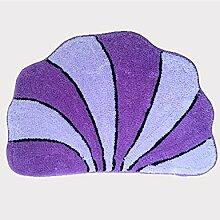Kreativ Haushalt Badezimmer Komfortable Anti-Rutsch-Wasserabsorption Tragen Schlafzimmer Studie Wohnzimmer Hall Teppich ( Farbe : B , größe : 50*70cm )