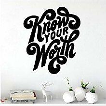 Kreativ Kennen Sie Ihren Wert Wandaufkleber