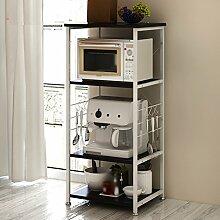 Kreativ Küche Regal Mikrowelle Ofen Rack Multifunktionsküche Lagerung Rack Lagerung Rack Landung Mikrowelle Rahmen ( Farbe : Schwarz )