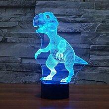 Kreative 3D Dinosaurier Nacht Licht 7 Farben