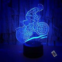Kreative 3D Fahrrad Nacht Licht 16 Farben Andern