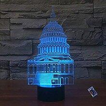 Kreative 3D Gebäude Nacht Licht 16 Farben Andern
