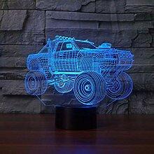Kreative 3D Gepanzertes Fahrzeug Auto Nacht Licht
