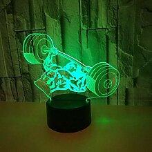 Kreative 3D Gewichtheben Nacht Licht 7 Farben