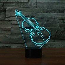 Kreative 3D Gitarre Nacht Licht 7 Farben Andern