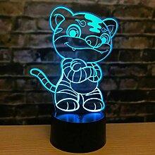 Kreative 3D Illusion Lampe Tiger LED Nachtlicht 16