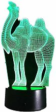 Kreative 3D Kamel Nacht Licht 7 Farben Andern Sich