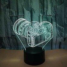 Kreative 3D Kamera Nacht Licht 7 Farben Andern