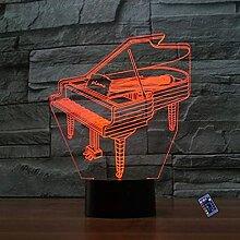 Kreative 3D Klavier Nacht Licht 16 Farben Andern