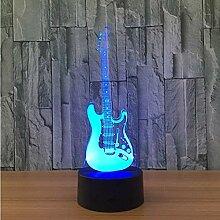 Kreative 3D-Licht E-Gitarre Modell Illusion