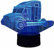 Kreative 3D LKW Nacht Licht 7 Farben Andern Sich