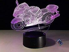 Kreative 3D Motorrad Nacht Licht 16 Farben Andern