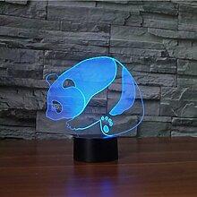 Kreative 3D Panda Nacht Licht 7 Farben Andern Sich