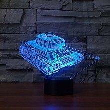 Kreative 3D Panzer Nacht Licht 7 Farben Andern