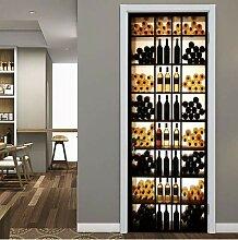 Kreative 3D Retro Weinkühler Tür Aufkleber Für