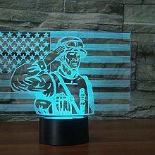 Kreative 3D Soldat Nacht Licht 7 Farben Andern