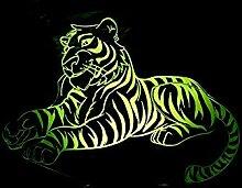 Kreative 3D Tiger Nacht Licht 7 Farben Andern Sich