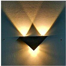 Kreative Aluminiumwandlampe, geführte einfache