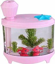Kreative Aquarienbeleuchtung Befeuchter USB-Luftbefeuchter Mini Home Edition Ladenachthimmel Luftbefeuchter,Pink-AllCode
