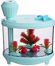 Kreative Aquarium Beleuchtung USB aufladbaren Mini Home Edition der Luftbefeuchter Luftbefeuchter Luftbefeuchter Night Light, Grün, 14,5 * 12,6 * 8.6Cm