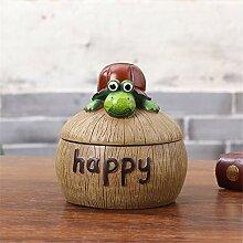 kreative aschenbecher mit Harz, Cartoon, Frosch,