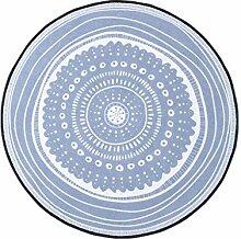Kreative Blaue Runde Teppich Design Teppich