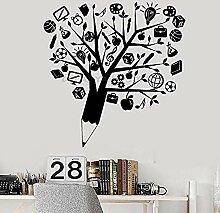 Kreative Bleistift Baum Wandaufkleber