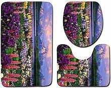 Kreative Blume Badezimmer Rutschfeste Matte