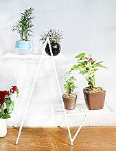 Kreative Blume Rack Eisen Blume Rack Zwei Schichten Indoor Blumenregal Bonsai Regal Wohnzimmer Balkon ( farbe : A )