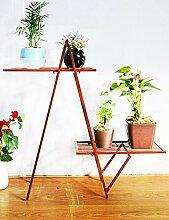 Kreative Blume Rack Eisen Blume Rack Zwei Schichten Indoor Blumenregal Bonsai Regal Wohnzimmer Balkon ( farbe : C )