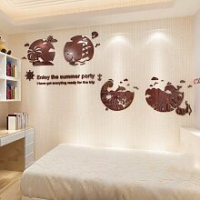 Kreative Cartoon 3D aus massivem Acryl wand Poster Wohnzimmer Schlafzimmer Bett für Kinder wand Dekoration Aufkleber, Kaffee,.