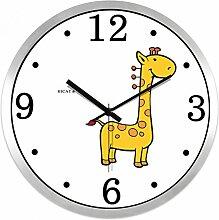 Kreative Cartoon Hirsch Wanduhr/Metal Uhren/Kinder Zimmer Leise Uhr-F 12Zoll
