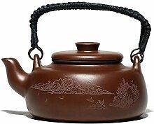 Kreative chinesische Yixing-Teekanne mit violettem