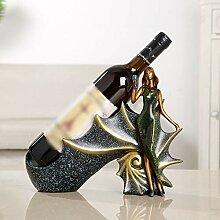Kreative Dame-förmige Einzelflasche Weinregal,