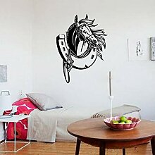 Kreative Dekoration Pferdekopf Wandaufkleber