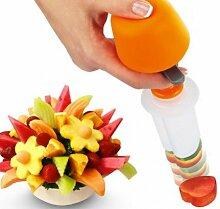 Kreative DIY Kunststoff Presse Obst Cutter Slicer