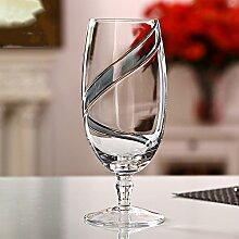 Kreative Doppel-Gold Bänder rot blau Champagner Glas Rotwein ausländischen Weinglas,blue-8*8*26