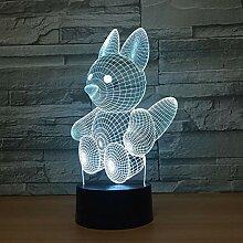 Kreative Eichhörnchen 3D Lampe Touch Acryl