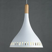 Kreative einfache moderne Aluminium einzigen Kopf halb Kronleuchter Restaurant, Café, bar der Buchhandlung (Lampe),Weiß