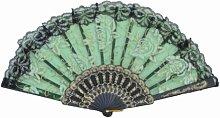 "Kreative einfachen Tanzen Fans Elegante Folding Sommer-Ventilator 9 """"Green"