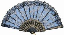 "Kreative einfachen Tanzen Fans Elegante Folding Sommer-Ventilator 9 """"BLAU"